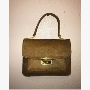 Calf Stadium Hair On Hide Handbag